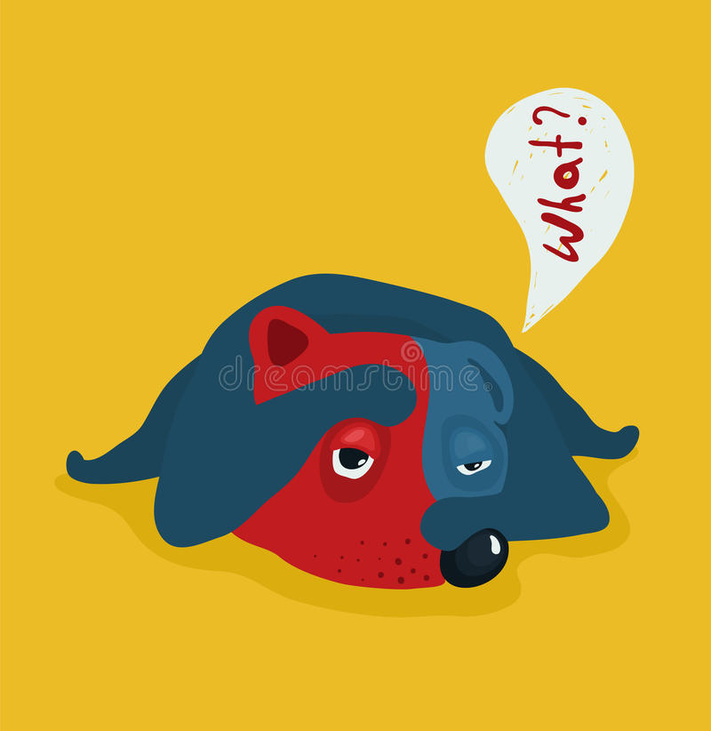Ejemplo cansado o perezoso divertido del perro libre illustration