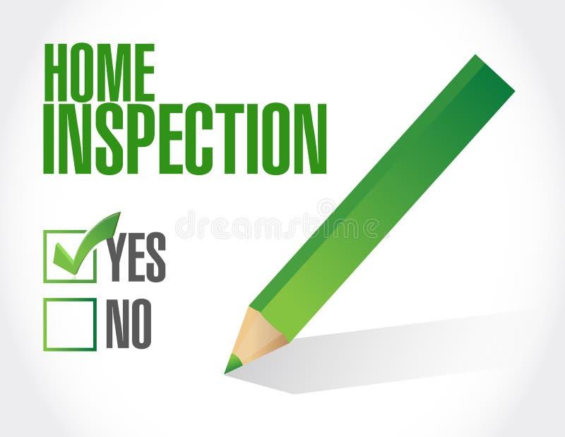 ejemplo casero de la lista de verificación de la inspección ilustración del vector
