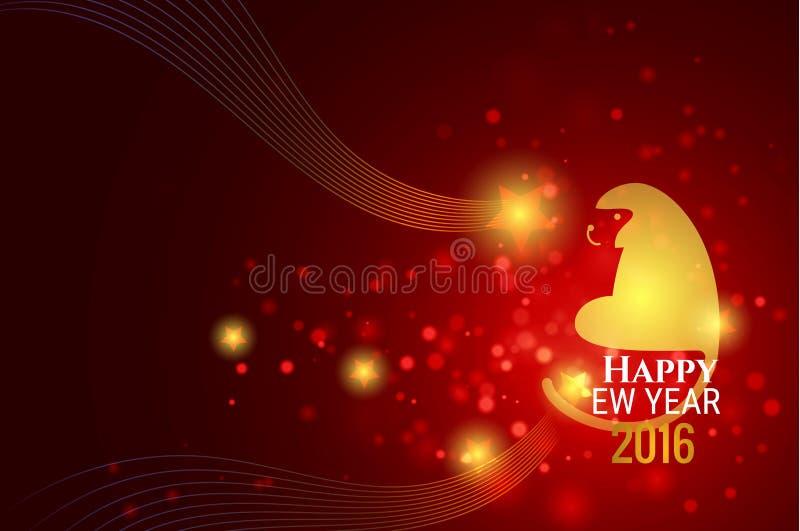 Ejemplo chino del vector del fondo del Año Nuevo ilustración del vector