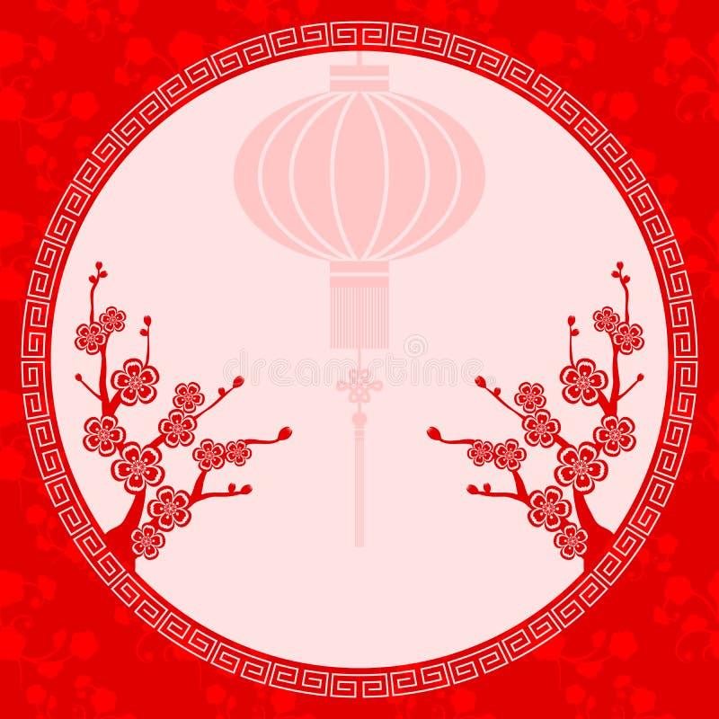 Ejemplo chino oriental de la linterna libre illustration