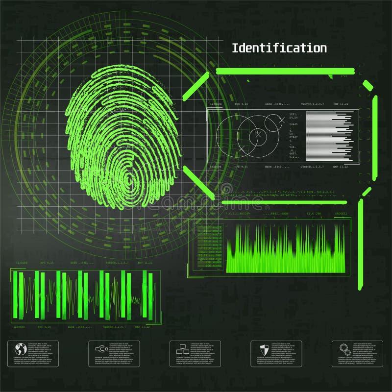 Ejemplo cibern?tico del vector de la seguridad de la cerradura Ejemplo del vector del negocio del concepto Infographic futurista  libre illustration