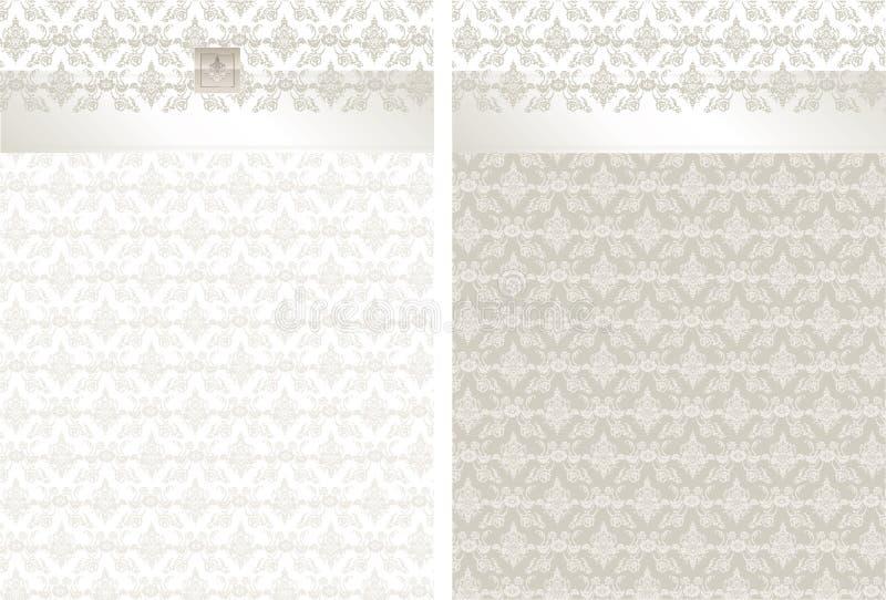 Ejemplo clásico de la tarjeta de la invitación del brocado libre illustration