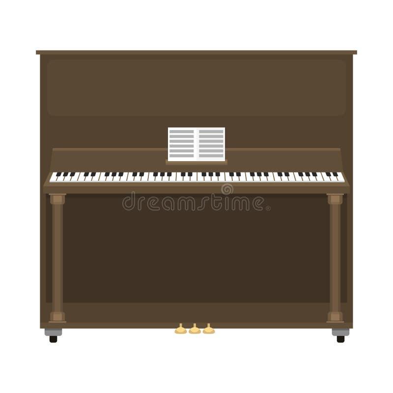 Ejemplo clásico del vector del instrumento del teclado musical del piano de cola stock de ilustración
