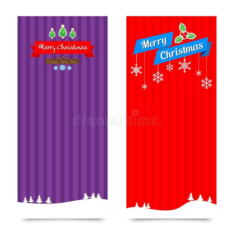 ejemplo Colle del vector del fondo de la bandera de la Navidad 045-Merry ilustración del vector