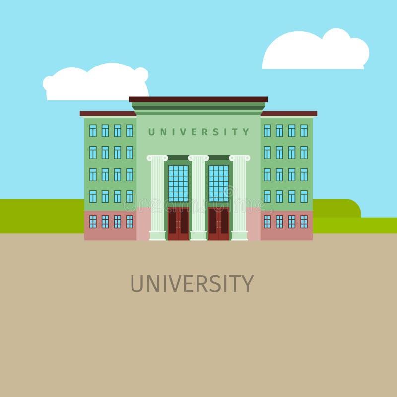 Ejemplo coloreado del edificio del univercity stock de ilustración