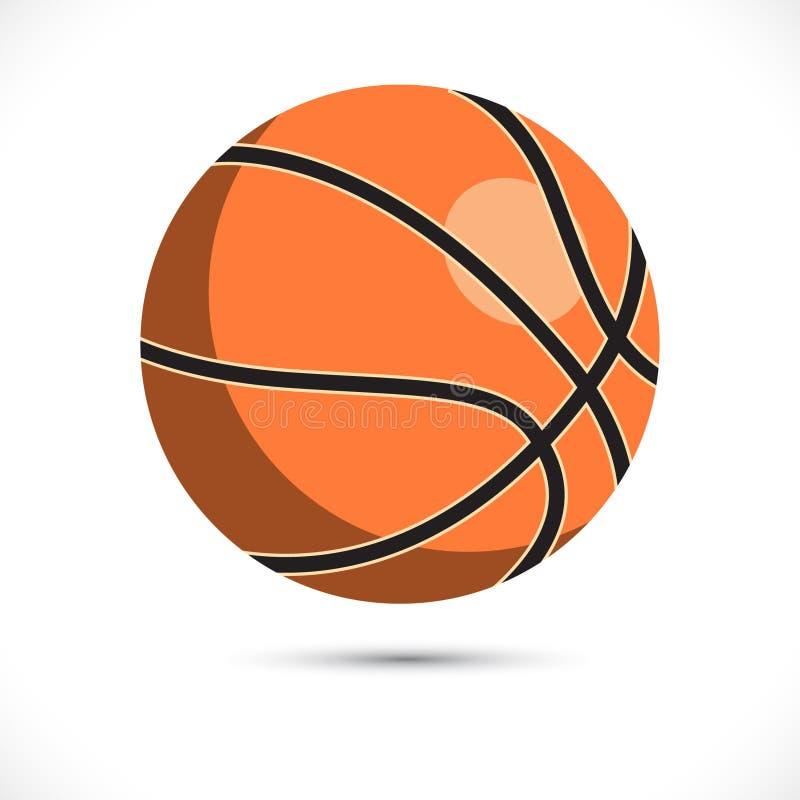 Ejemplo coloreado del vector del baloncesto Arte del vector del baloncesto del deporte en el fondo blanco stock de ilustración