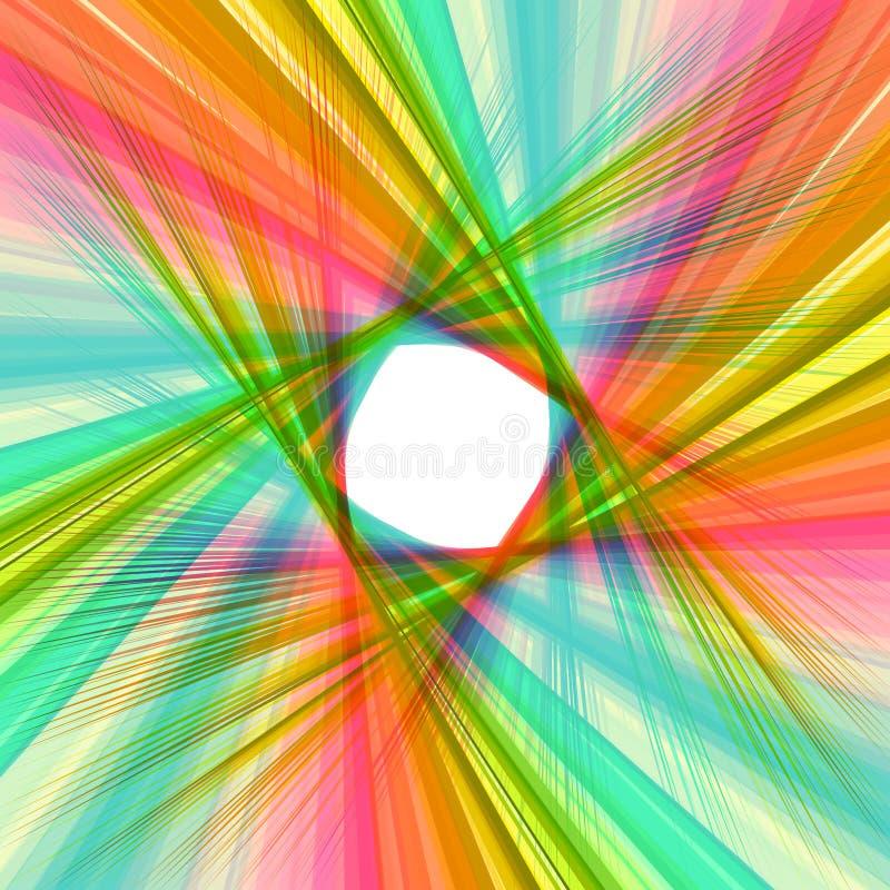 Ejemplo colorido abstracto del fondo del remolino libre illustration