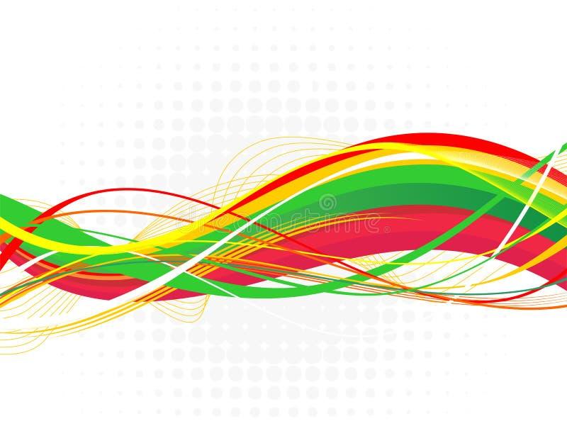 Ejemplo colorido abstracto del onda-vector imagenes de archivo