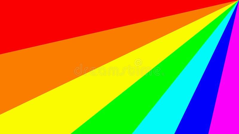 Ejemplo colorido con el espectro principal de los colores del arco iris ilustración del vector