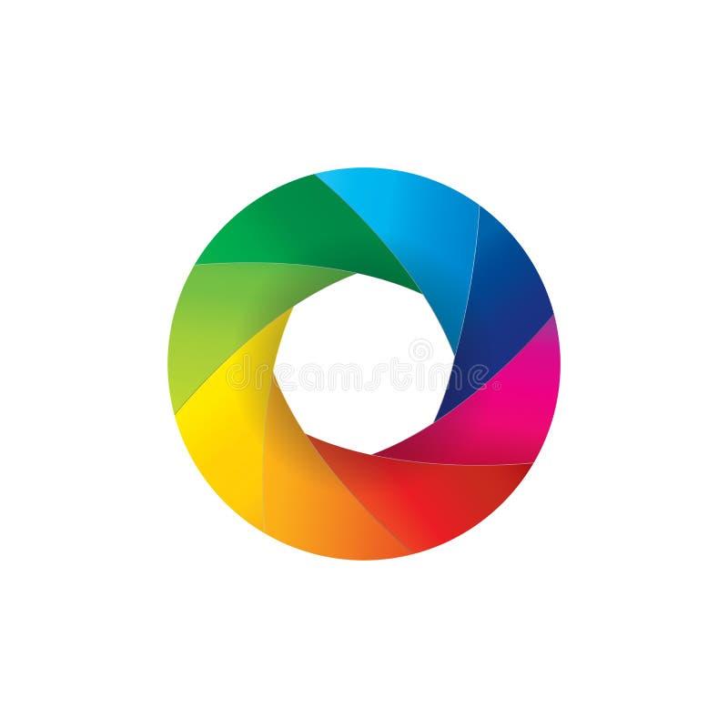 Ejemplo colorido de la abertura del obturador de la lente de cámara libre illustration
