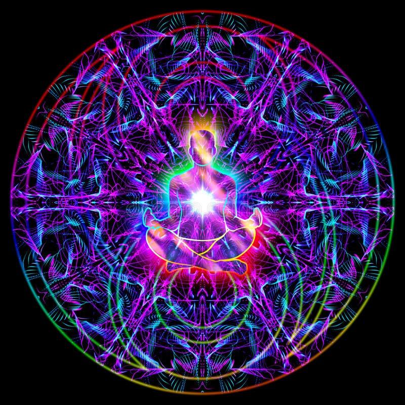 Ejemplo colorido de la mandala del extracto sagrado de la meditación libre illustration