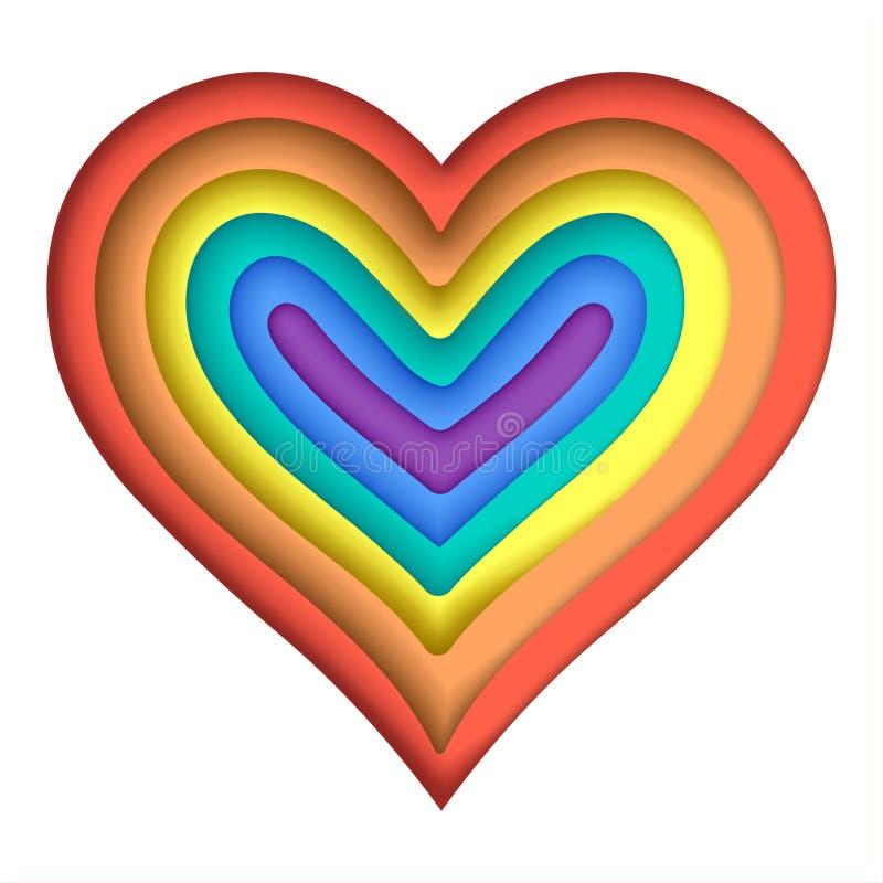 Ejemplo colorido del amor de LGBT libre illustration