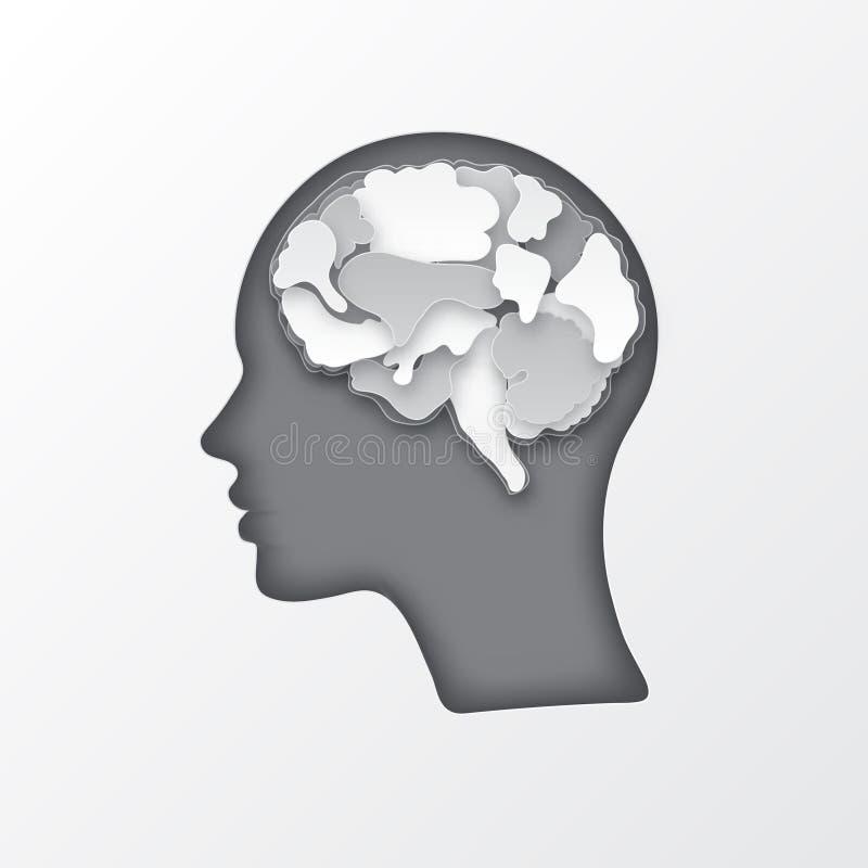 Ejemplo colorido del cerebro del vector libre illustration