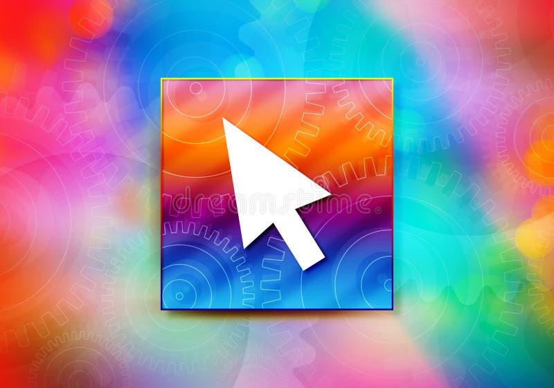 Ejemplo colorido del diseño del bokeh del fondo del extracto del icono del cursor stock de ilustración