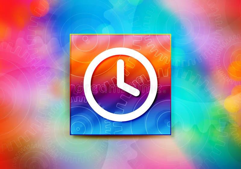 Ejemplo colorido del diseño del bokeh del fondo del extracto del icono del reloj ilustración del vector