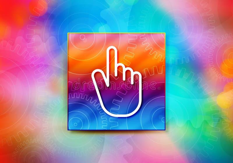 Ejemplo colorido del diseño del bokeh del fondo del extracto del icono del tecleo del cursor de la mano stock de ilustración