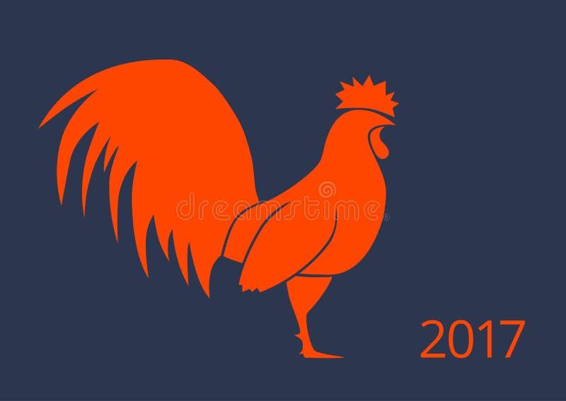 Ejemplo colorido del gallo ilustración del vector
