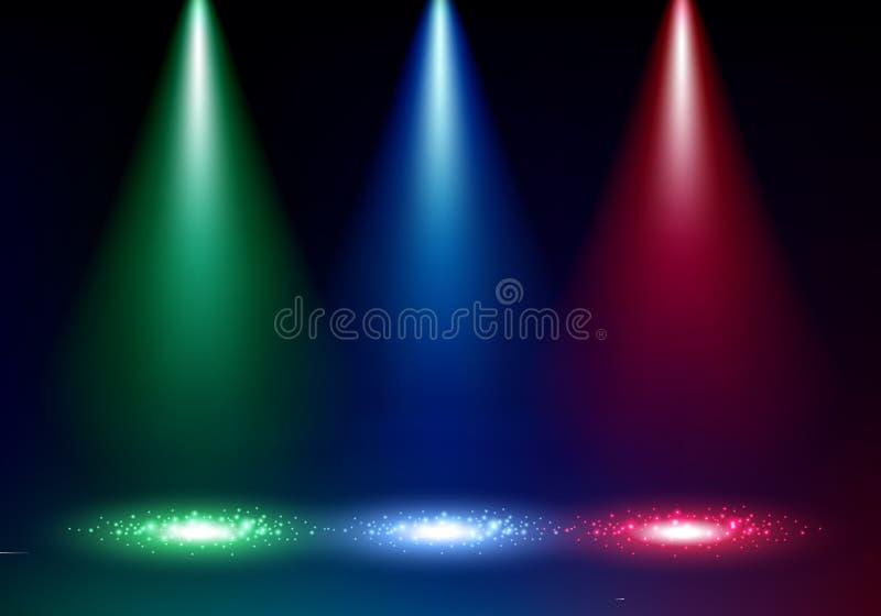 Ejemplo colorido del vector del fondo de los proyectores ilustración del vector