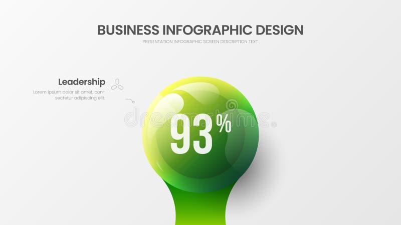 Ejemplo colorido del vector infographic de la opci?n del negocio 1 Estad?sticas de la compa??a que comercializan la disposici?n d stock de ilustración