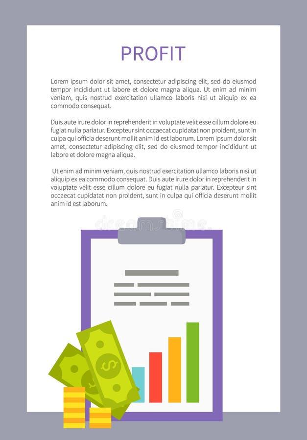 Ejemplo colorido enmarcado cartel del vector del beneficio ilustración del vector