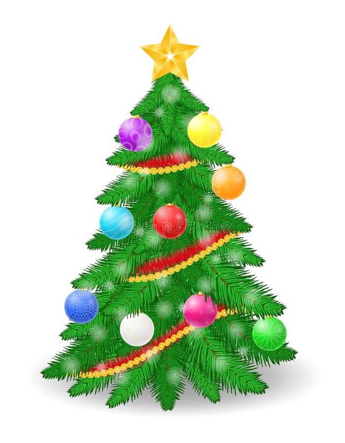 Ejemplo común del vector del árbol de navidad libre illustration