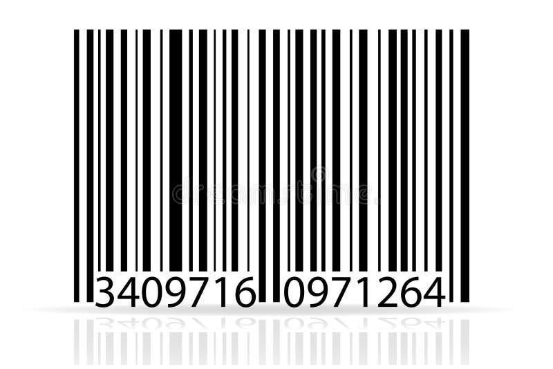 Ejemplo común del vector del código de barras stock de ilustración