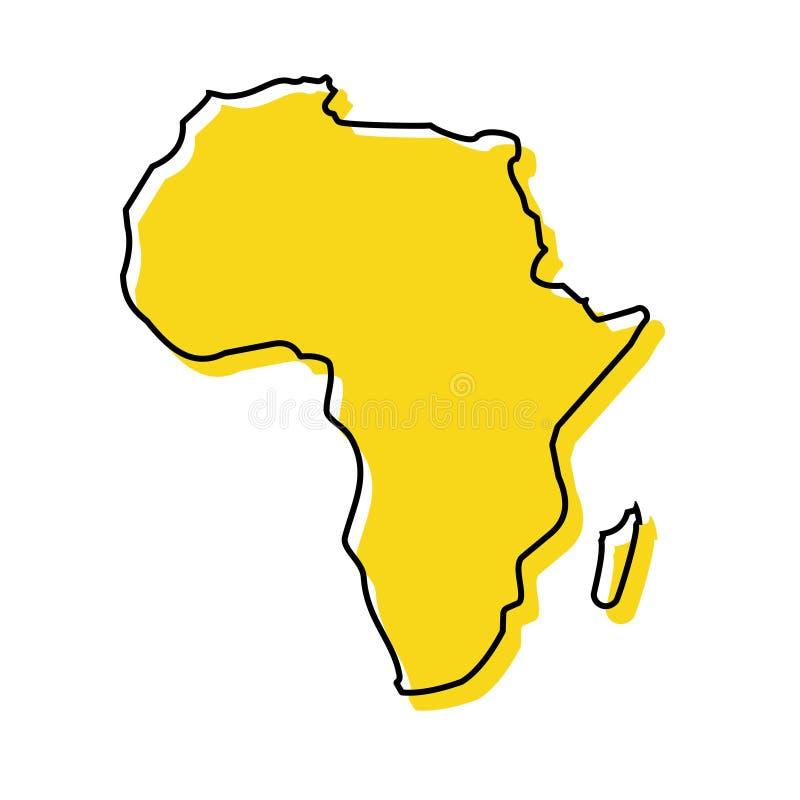 Ejemplo común 1 del vector del icono del mapa de ÁFRICA del vector ilustración del vector