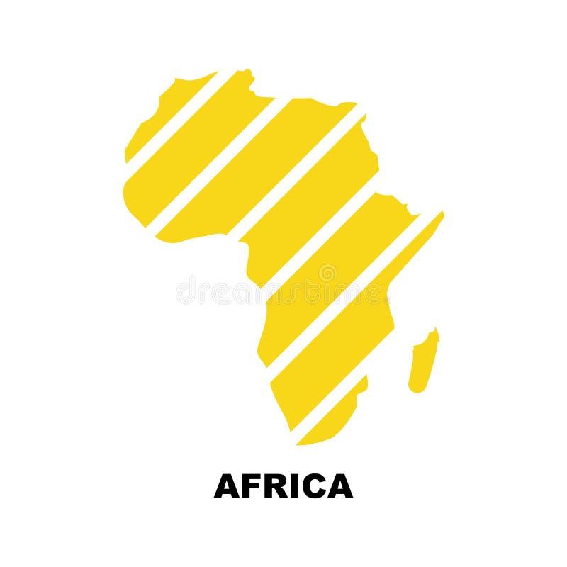 Ejemplo común 5 del vector del icono del mapa de ÁFRICA del vector stock de ilustración