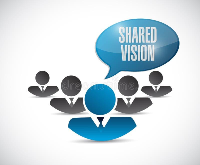 ejemplo compartido de la comunicación de la gente de la visión ilustración del vector