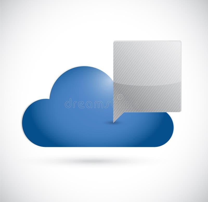 Ejemplo computacional del concepto de la comunicación de la nube ilustración del vector
