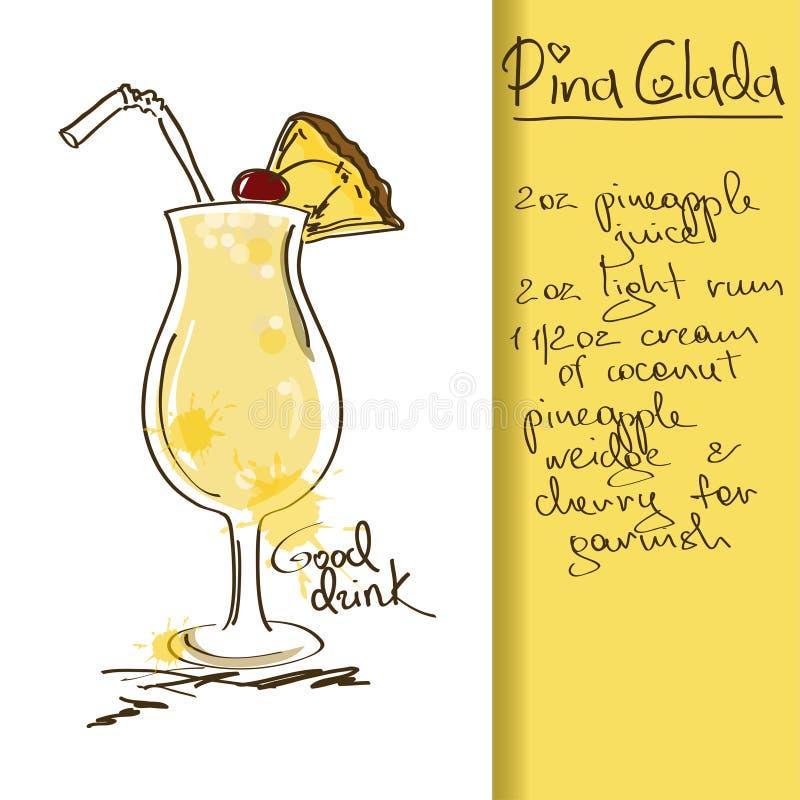 Ejemplo con el cóctel de Pina Colada libre illustration