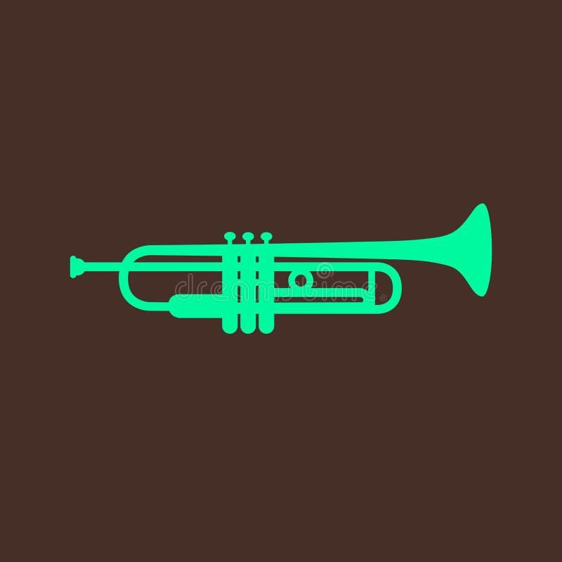 Ejemplo con la trompeta ilustración del vector