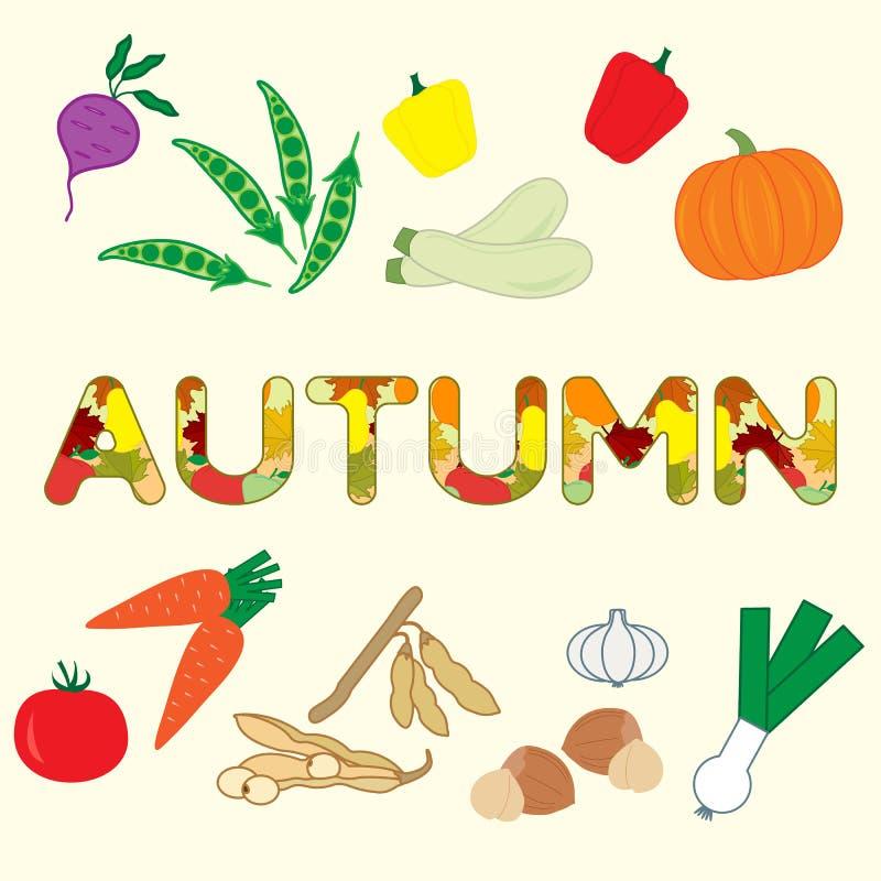 Ejemplo con las verduras del otoño libre illustration