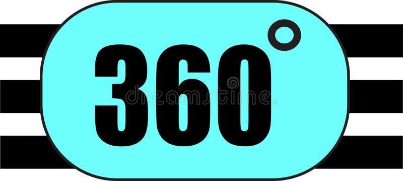 ejemplo conceptual del logotipo de la palabra de 360 grados stock de ilustración