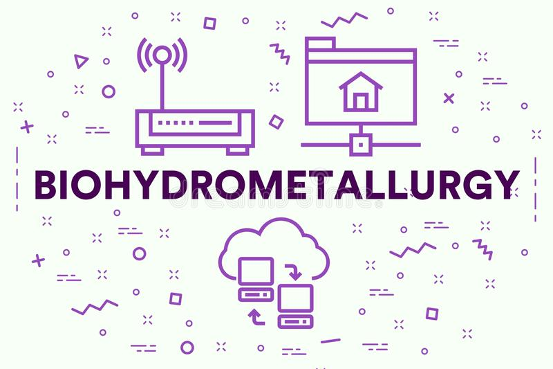 Ejemplo conceptual del negocio con el biohydrometallur de las palabras ilustración del vector