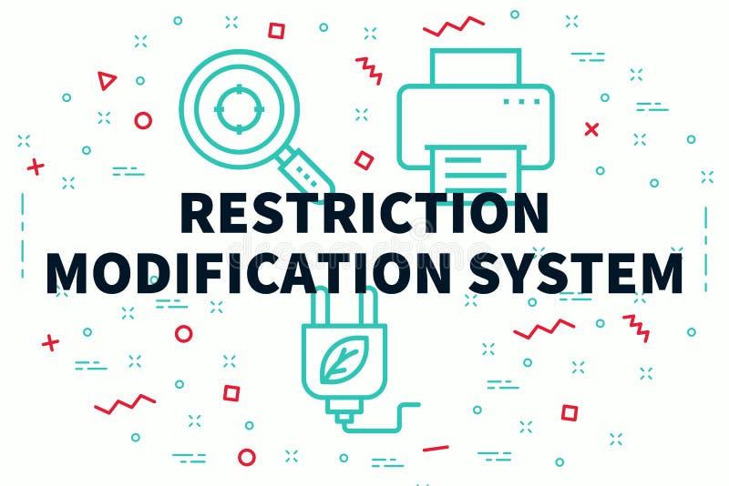 Ejemplo conceptual del negocio con el modi de la restricción de las palabras libre illustration