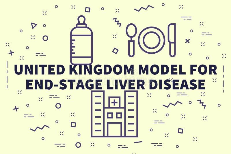 Ejemplo conceptual del negocio con las palabras Reino Unido m libre illustration