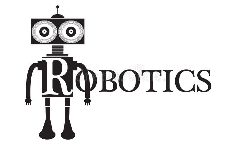 Ejemplo conceptual del texto de la palabra de la robótica ilustración del vector
