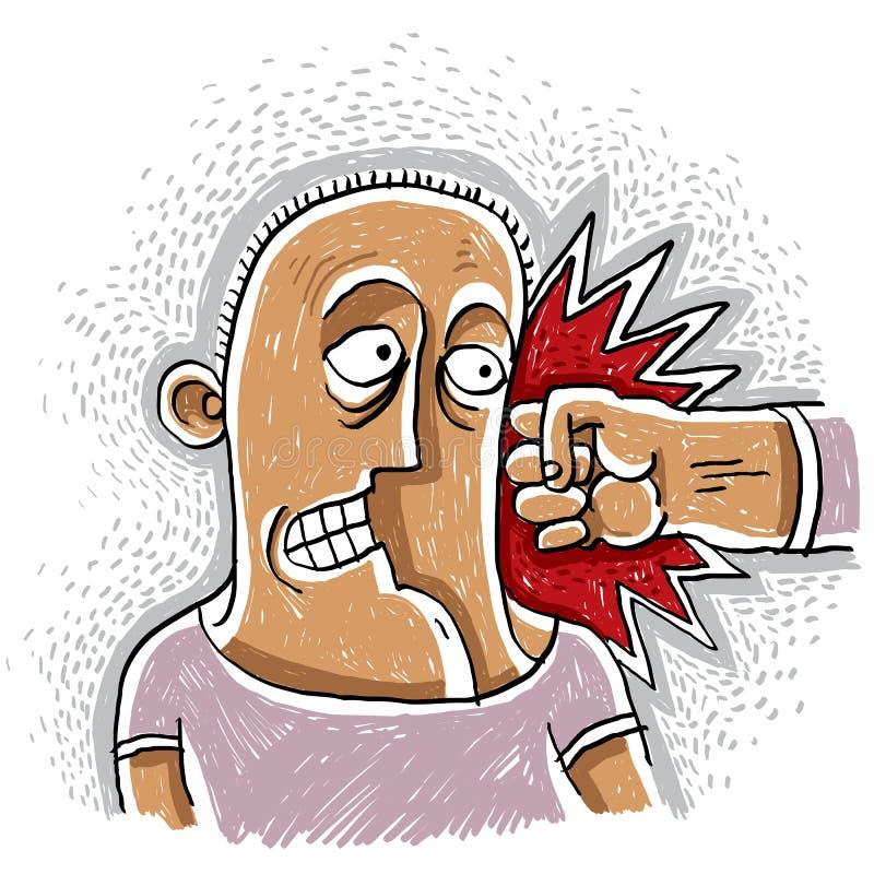 Ejemplo conceptual del vector del combatiente, dibujo de la idea del agresor stock de ilustración
