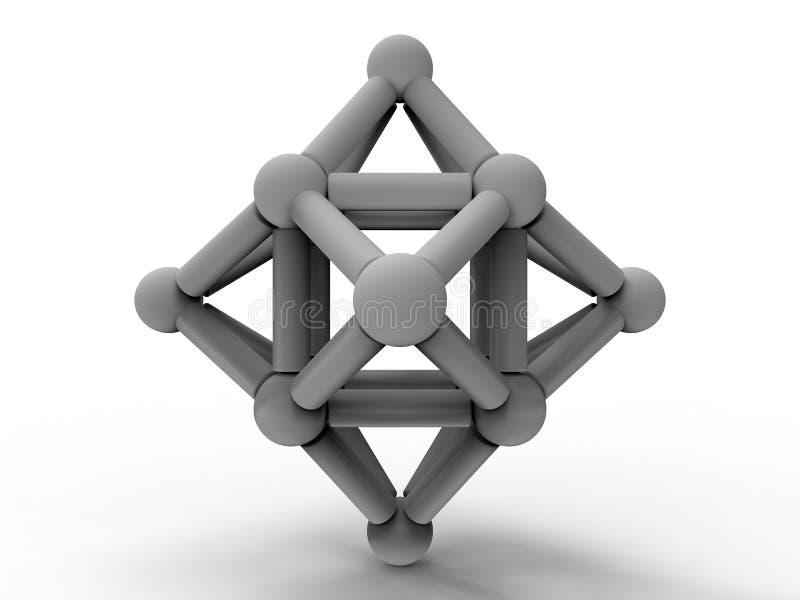 Ejemplo conectado extracto de los nodos stock de ilustración
