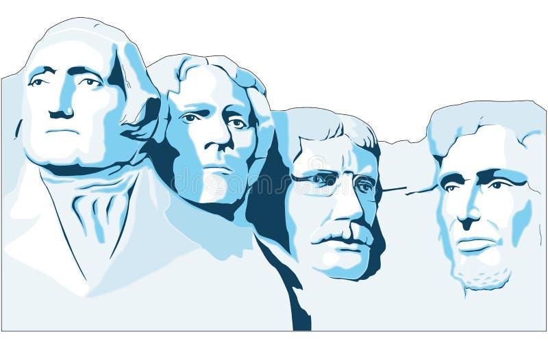 Ejemplo conmemorativo del vector del monte Rushmore libre illustration