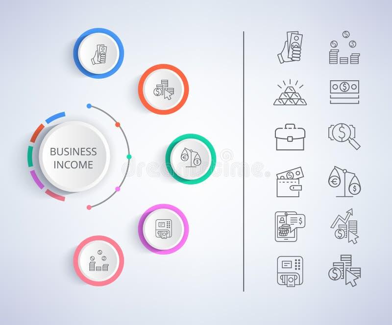 Ejemplo constitutivo del vector de la renta de empresas ilustración del vector