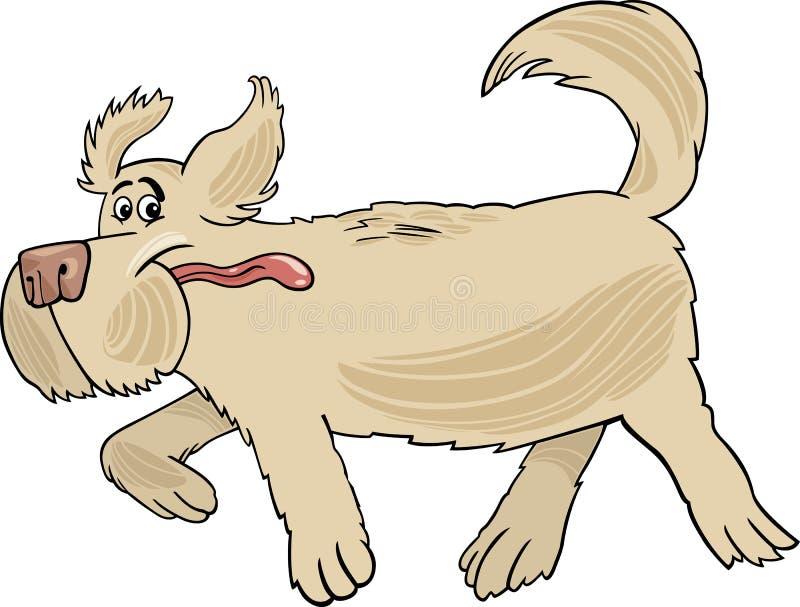 Ejemplo corriente de la historieta del perro del perro pastor stock de ilustración
