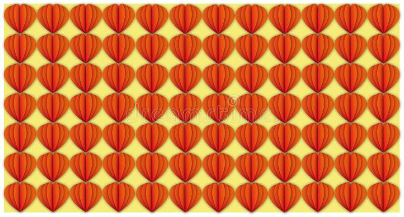 Ejemplo cortado corazón ilustración del vector