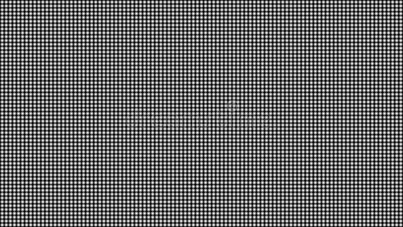 Ejemplo creativo de la textura macra llevada de la pantalla aislado en fondo transparente Modelo inconsútil del diodo del rgb del libre illustration