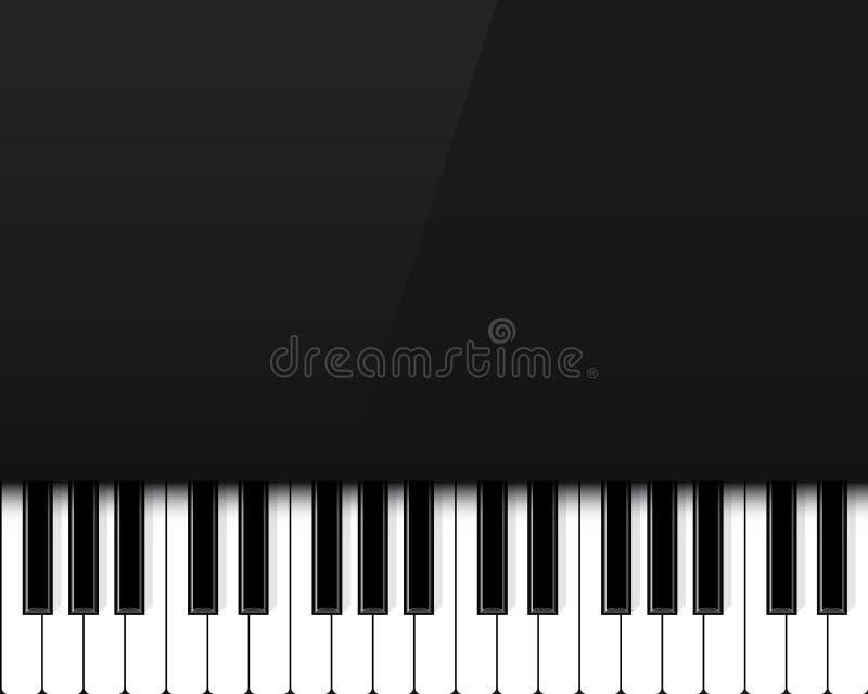 Ejemplo creativo de las llaves del piano Fondo vivo de la m?sica de concierto del jazz del dise?o del arte Elemento abstracto del ilustración del vector