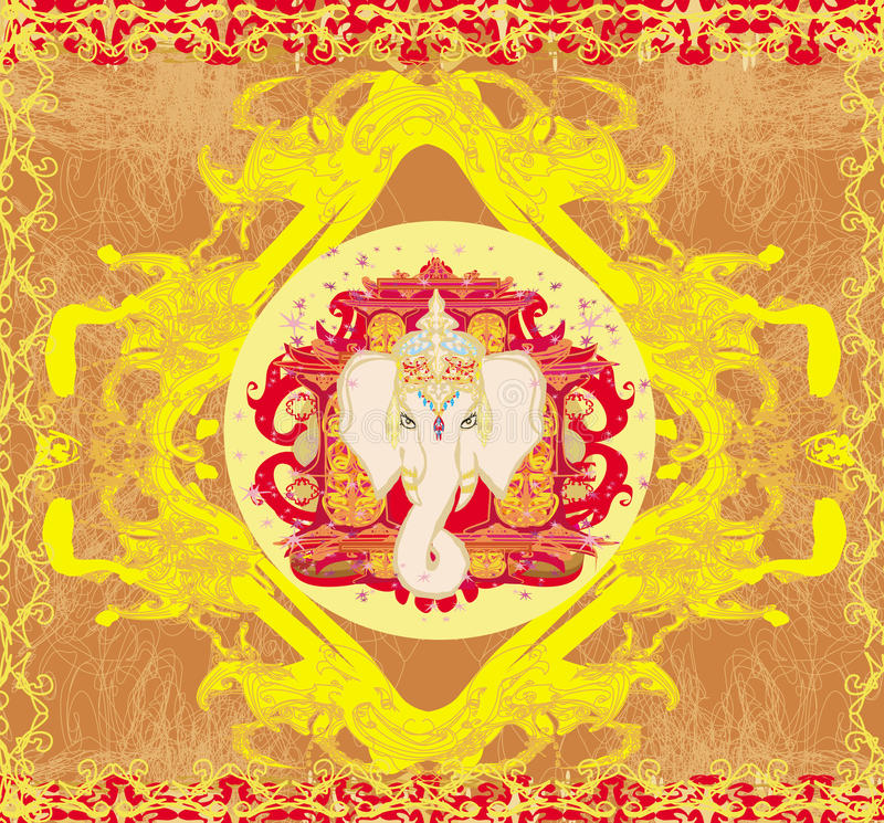 Ejemplo creativo de Lord Ganesha hindú ilustración del vector