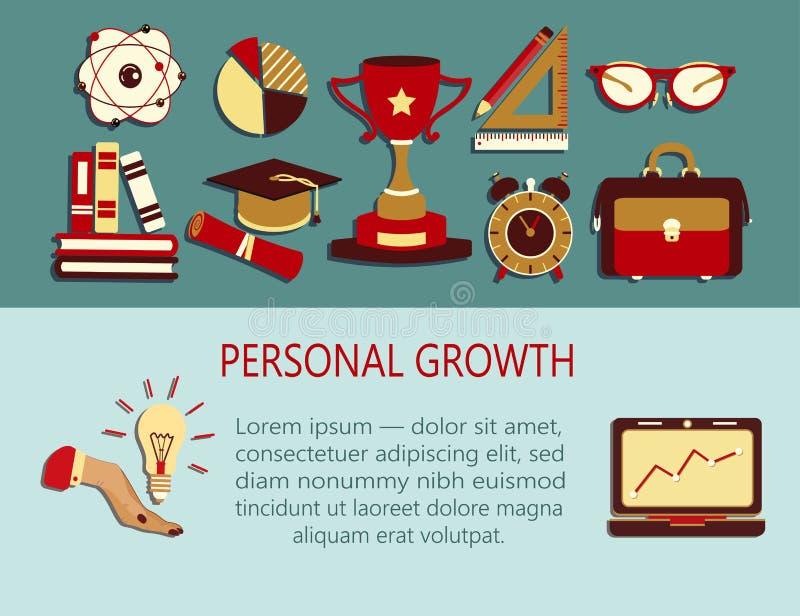 Ejemplo creativo del crecimiento personal stock de ilustración