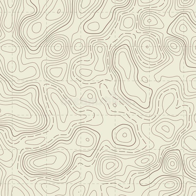Ejemplo creativo del mapa topogr?fico Fondo del contorno del dise?o del arte Elemento del concepto abstracto y esquema gr?ficos d foto de archivo