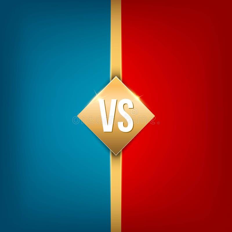 Ejemplo creativo del vector contra del fondo CONTRA el diseño del arte del logotipo para la competencia, lucha, partido de deport stock de ilustración